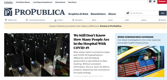 4. ProPublica Best Fact-checking Websites
