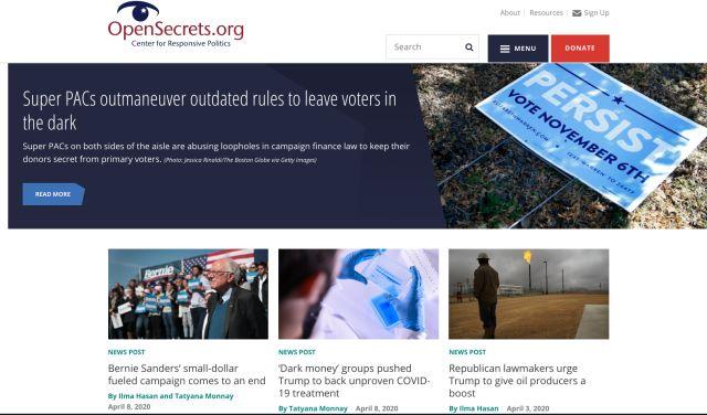 5. OpenSecrets