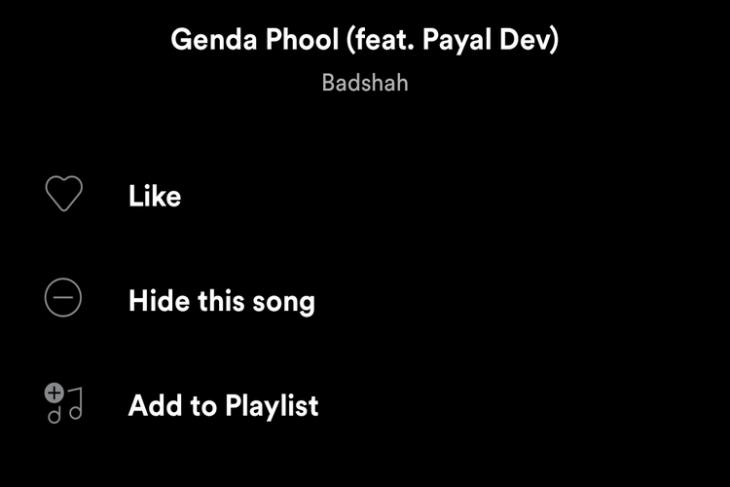 Spotify Adds 'Hide This Song' Option for Premium Users