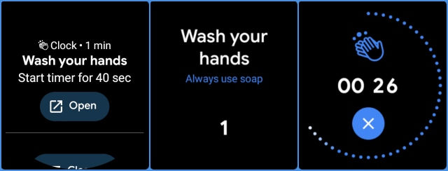 WearOS wash hands