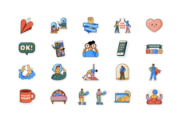 WhatsApp Together at Home Sticker Pack website