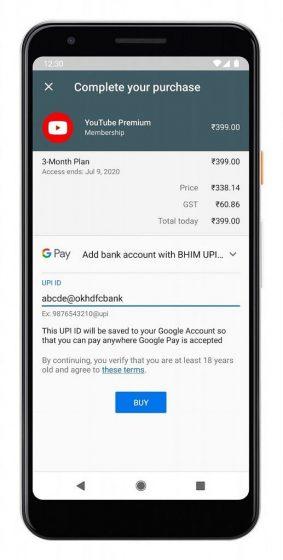 YouTube-UPI-Payments-india