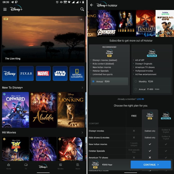 disney+ hotstar subscription tiers