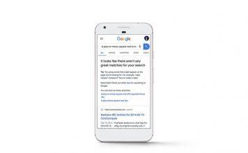 google search error message