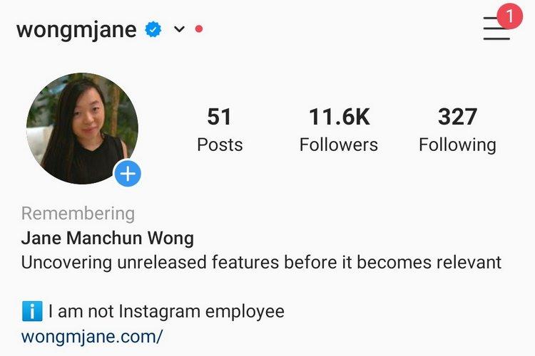 """Instagram Để thêm thẻ """"ghi nhớ"""" trong hồ sơ tưởng niệm 2"""