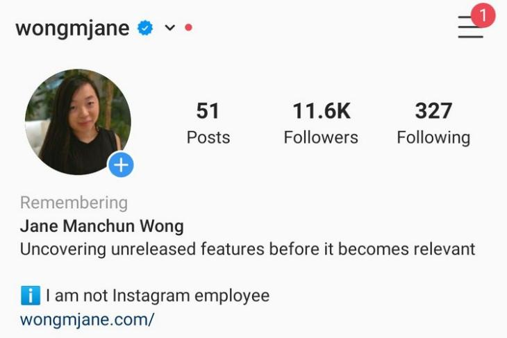instagram account memorilization