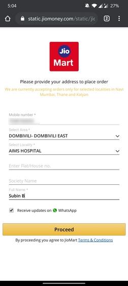 jiomart order page