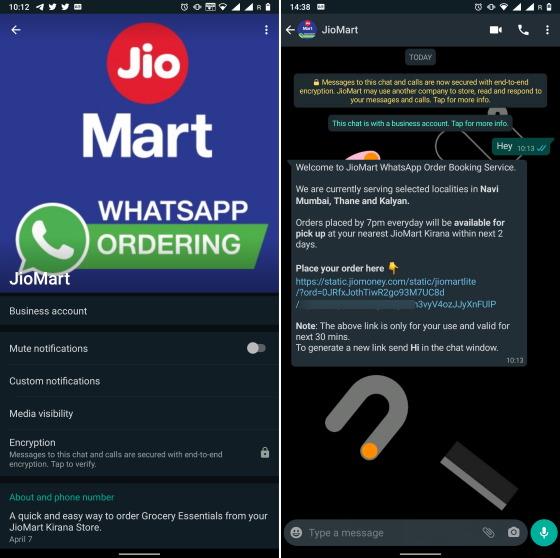 JioMart Now Lets You Order Groceries via WhatsApp