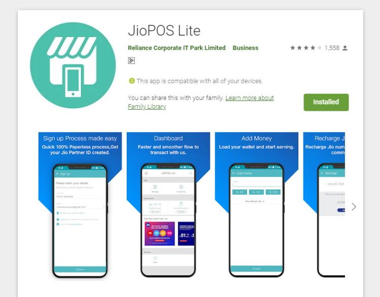 Jio - JioPOS Lite Google play