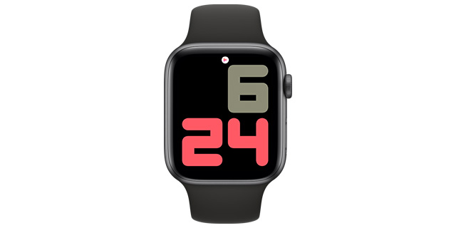 numerals duo water apple watch face