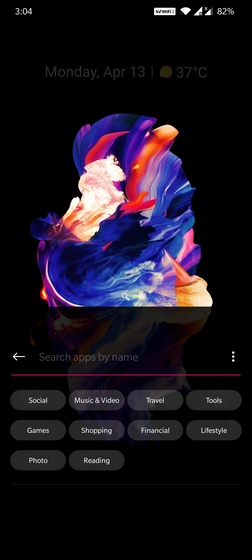 oneplus launcher quick search