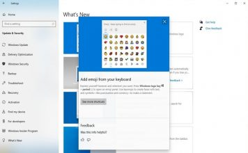 windows 10 what's new page