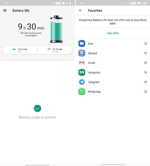 3. Kaspersky Battery Life: Saver & Booster - App Killers for Android