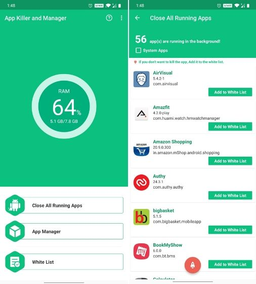 5. App Killer and Manager