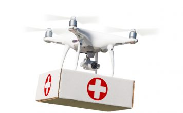 Drones carrying medical supplies feat.