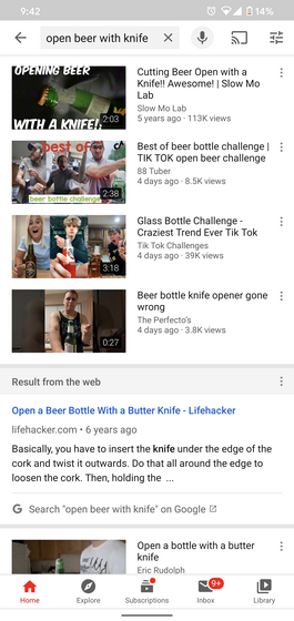YouTube Android App Now Showing Google Search Results Alongside Videos