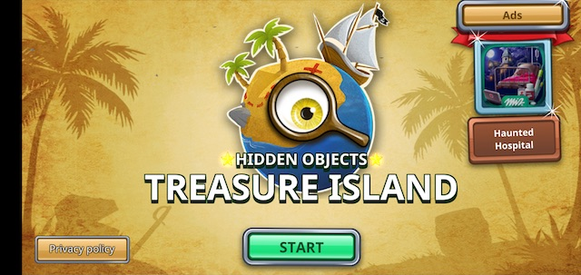 Hidden objects treasure island