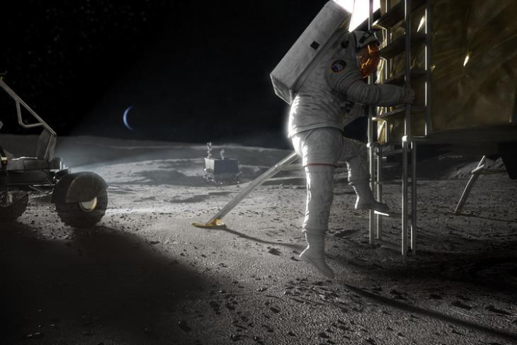 NASA moon lander website