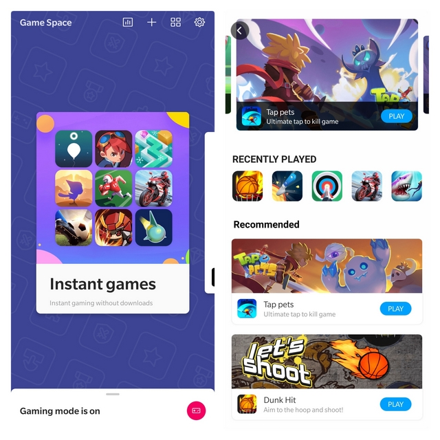 OnePlus Game Space Instant Games