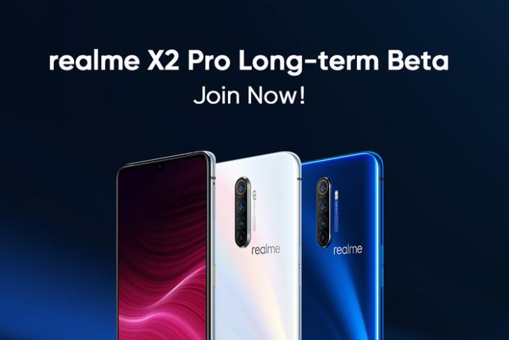 Realme X2 Pro beta program website