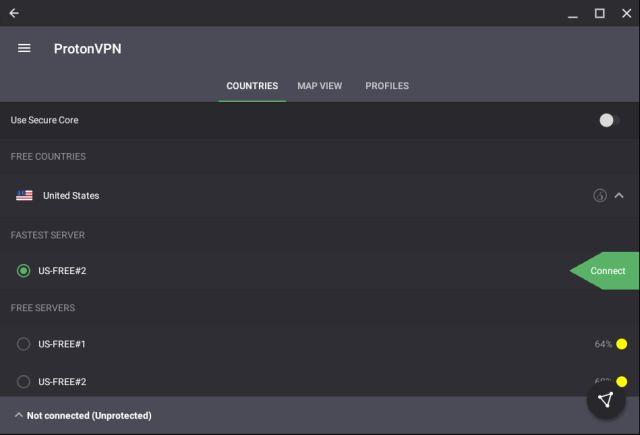 1. ProtonVPN Best Free VPNs for Chromebook