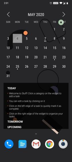 8. Month Calendar + Stuff
