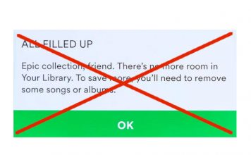 Spotify Removes 10,000-Song Limit on Library