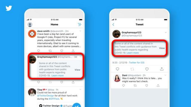Twitter warnings COVID-19 body2