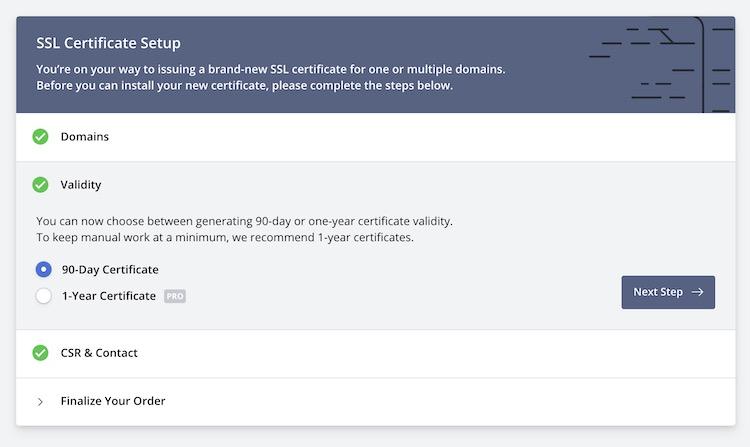 ZeroSSL - Generating SSL certificate 3