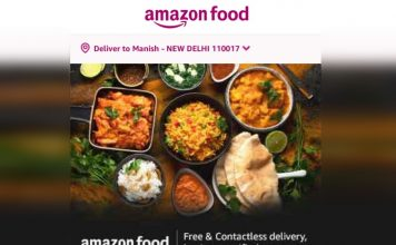 amazon food delivery india