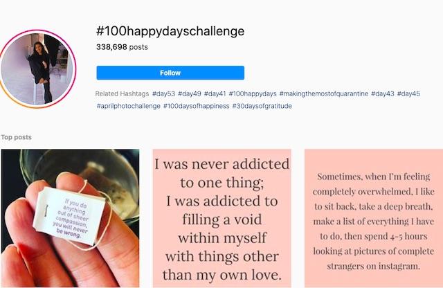 #100happydayschallenge