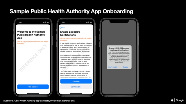exposure notifications onboarding ios