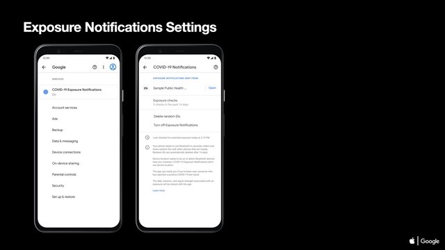 exposure notifications settings android