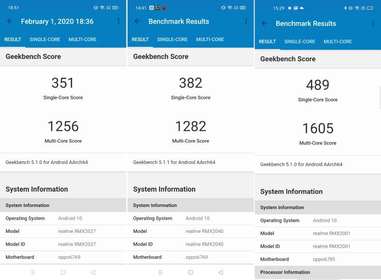 MediaTek Helio G70 vs Helio G80 vs Helio G90T: geekbench score