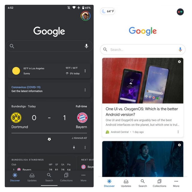 google app beta weather bubble
