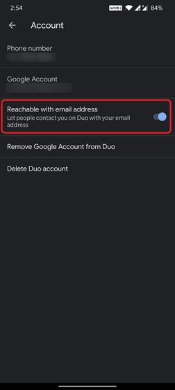 google duo email address