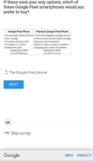 google pixel survey reddit