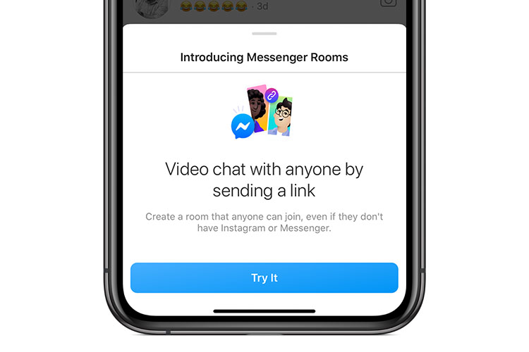 Instagram now allows for video chat with up to 50 people