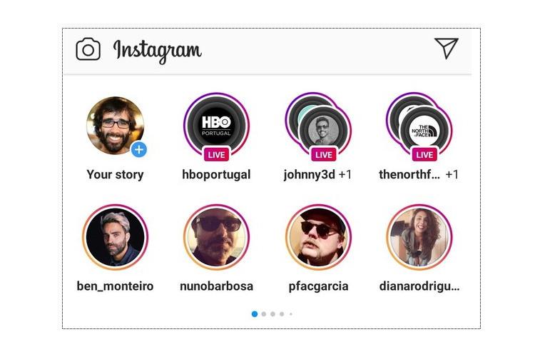 instagram stories two-row test