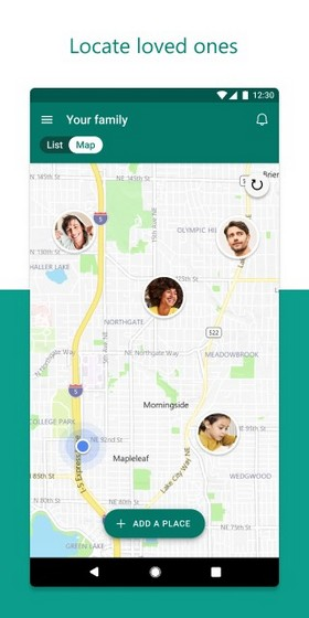 microsoft family safety location sharing