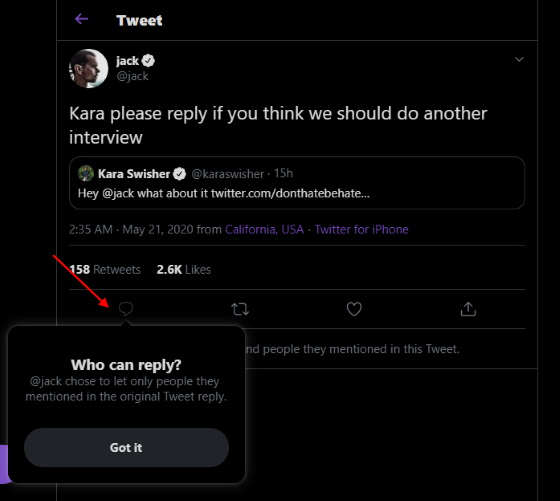 reply button - twitter - grayed out