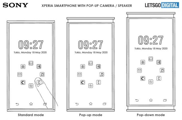 sony xperia patent phone modes