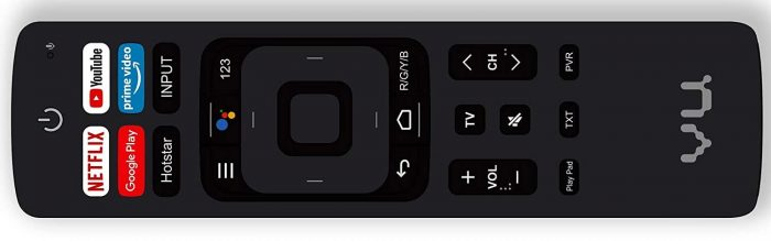 Vu ultra smart TV remote
