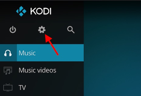 Click on Settings icon in Kodi