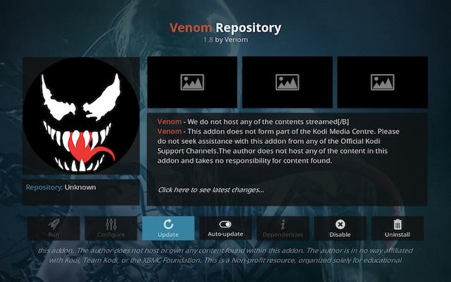 Cool Venom Kodi add-on