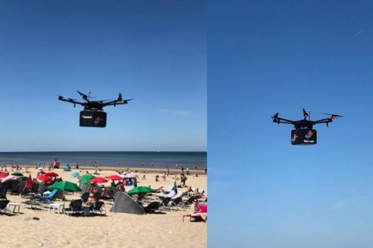 Dominos drone delivery feat.
