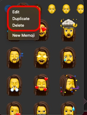 Edit and delete Memoji