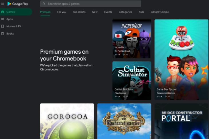 Google Features Select 'Premium' Games for Chromebooks