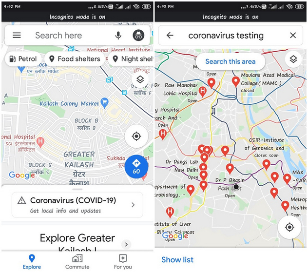 Here's How to Find Local COVID-19 Test Centers on Google Search, Assistant, Maps in India