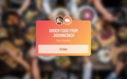Instagram food order sticker - zomato - swiggy